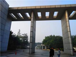 公司拆除文化门廊现场实地测量