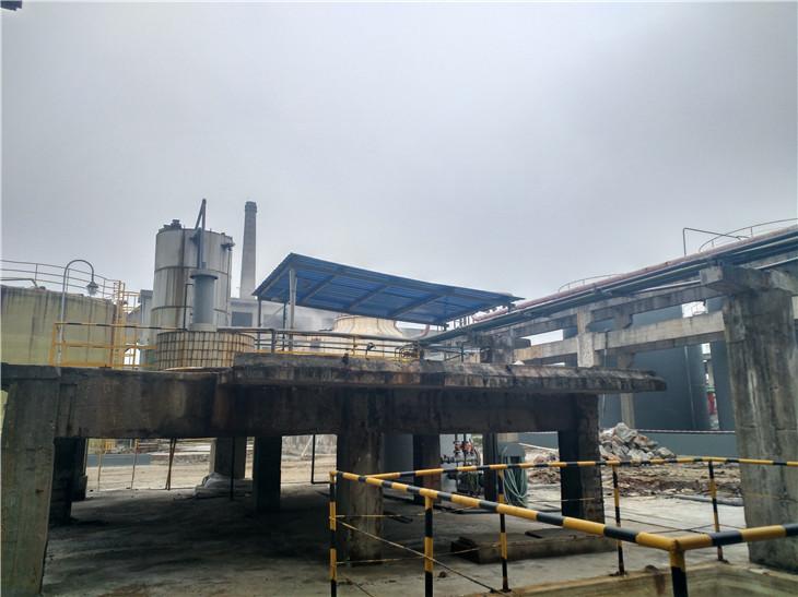 彭州华融化工厂房局部拆除